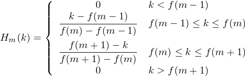 Formula for calculating filterbanks