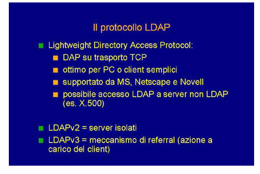 Il protocollo LDAP nei sistemi distribuiti