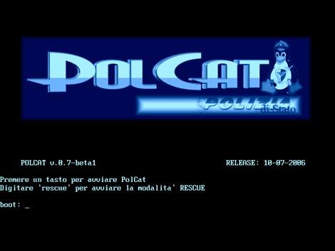Il software PolCat e le analisi investigative - Scheramta di avvio di PolCat