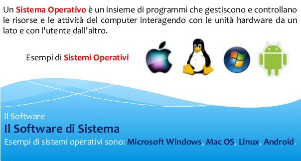 Sistemi di elaborazione - sistema operativo e software di sistema