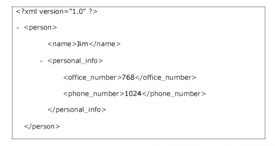 Esempio di file XML