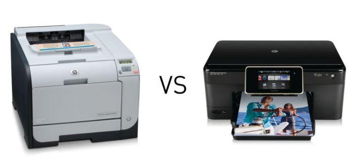 Caratteristiche e differenza tra stampante getto d'inchiostro e laser