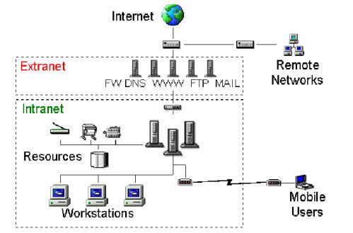 Differenza tra le reti Intranet e Extranet in informatica