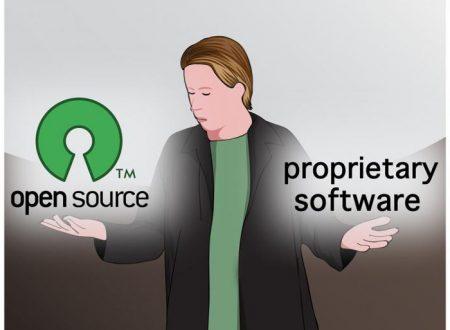 Differenza tra software aperto e software proprietario in informatica