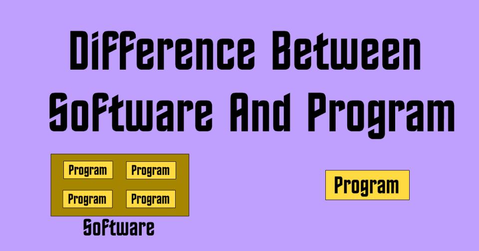 Differenza tra programma e software in informatica