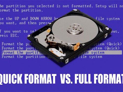 Differenza tra formattazione rapida e formattazione completa in informatica